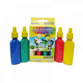 COLA COLORIDA C/ 4 CORES ACRILEX